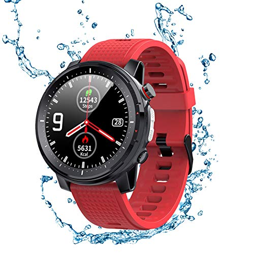 XFTOPSE Relógio inteligente para telefones Android, compatível com mensagens e chamadas iPhone Samsung, monitor de sono rastreador de atividades L15 masculino inteligente relógio de pressão arterial IP68 à prova d'água, contador de passos, pedômetro, redondo