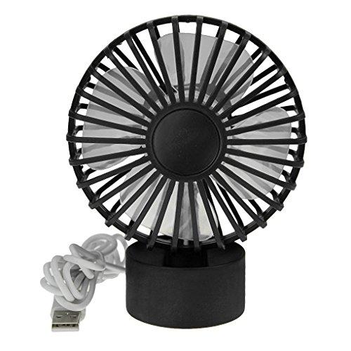 Bao core mini USB ventilador de mesa ventilador de escritorio silencioso Mini ventilador de refrigeración USB de carga Muse 2nivel viento ajustable negro negro