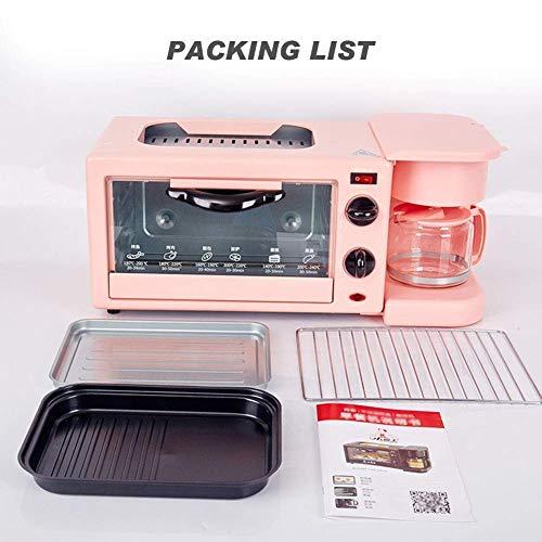 512+WAPYAVL - Qinmo E-Ofen, Multifunktions-Frühstück Maschine, Non-Stick Bratpfanne Sandwich Hot Dog Toast Pizza Spiegelei Home Küche Elektro-Ofen (Farbe: Schwarz) (Farbe: Schwarz) (Größe: Pink), Größe: Rosa