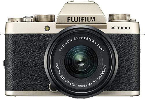 FUJIFILM ミラーレス一眼 X-T100レンズキット シャンパンゴールド X-T100LK-G