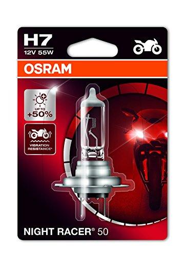 OSRAM Night Racer 50 H7 Projecteur de Moto 64210NR5-01B 12V Blister Individuel