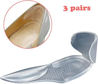 High Heel Cushion Inserts Anti Slip Shoe Cushion Pads for Shoes Too Big Heel Grips Heel Liner Heel Snugs Heel Cups for Women (Transparent)