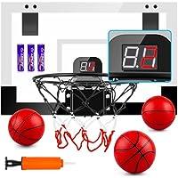 Treywell Basketball Hoop + Electronic Scoreboard + 3 Balls and 3 Batteries