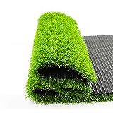 Césped de jardín, 20 mm, alfombra de césped artificial, césped sintético de alta densidad, verde césped sintético natural para decoración de césped, patio, jardín (color: verde, tamaño: 2 x 2 m)