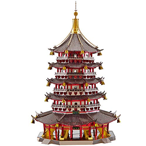 Piececool 3D Metal Model Kits-Leifeng Pagoda- Famous Architecture Model Kits -DIY 3D Metal Puzzle...