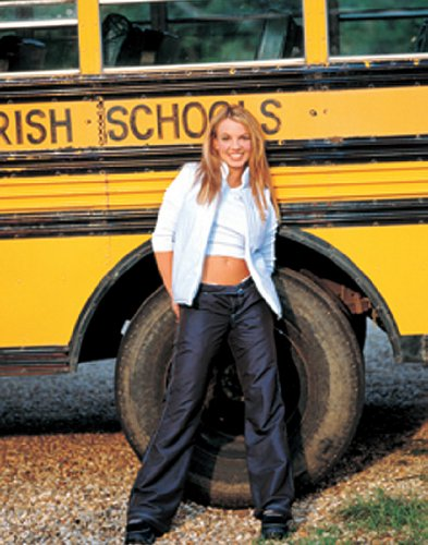 Britney Spears School Bus Teen Music Icon Rare Vintage Original Postcard Poster Print 11x14