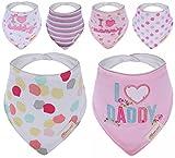 Bebedou - Baberos con adornos para bebé, 6unidades, superabsorbente, diseño...