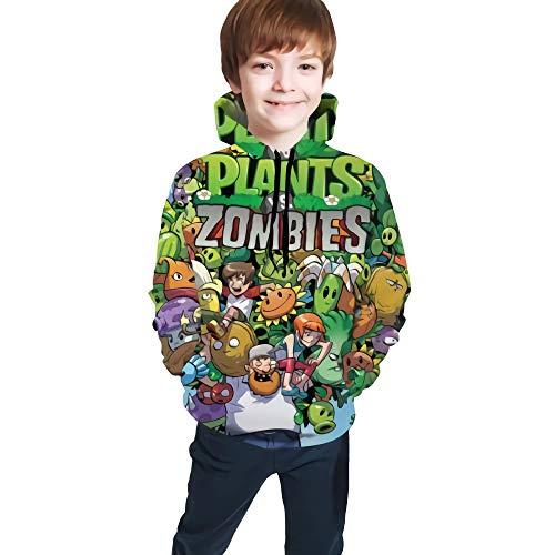 Jupsero Plantas vs. Zombies 3D Full Printed Teenage Sweater Hoodie Negro