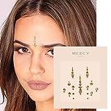 Gigi Gold Bindi ✮ Crystal Indian Bindi Face Jewels Gold Multi Packet