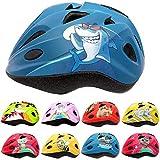 Skullcap® Fahrradhelm für Kinder Kinder-Helm für City-Roller, Longboard, Scooter - Blauer Kinderhelm für Inliner, Schlittschuh & Rollschuh Hai Fisch