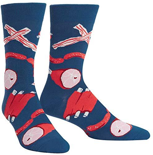 Sock It To Me Men's Nice to Meat You Pork Bacon Crew Socks