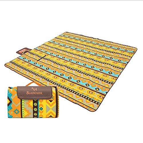 BIAOYU Espesar Mantas de Picnic Ligero Picnic Mat a Prueba de Arena e Impermeable Alfombrilla de Playa para picnics al Aire Libre Usar (Color : Yellow)
