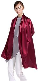 prettystern Damen festlich einfarbig Seiden-Stola für Abendkleider