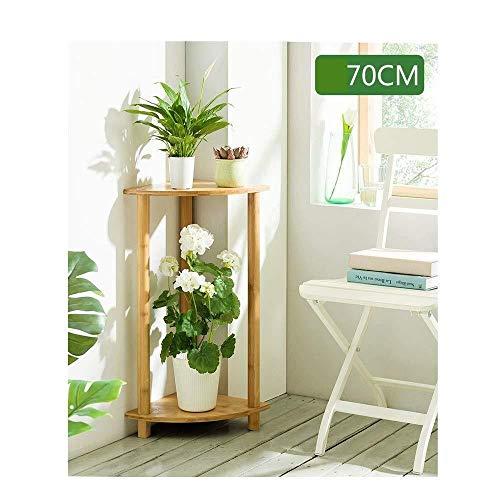 Plant Stand JT- Support de Fleurs en Forme d'éventail en Bois Support de Pot de Fleurs pour Plantes Multifonction, Bambou, a, 30x70cm