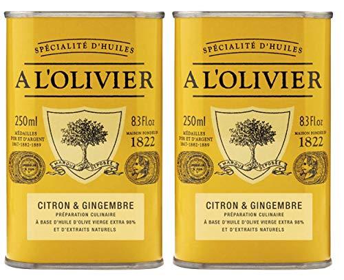 A l\'Olivier - 2er-Set Provence Olivenöl mit Zitrone & Ingwer (Citron & Gingembre) - 2 x 250 ml
