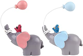 Amosfun 2 Stücke Elefant Figur Kuchen Topper Kuchendeko Tortendeko Tortenfigur Dekofigur Büro Schreibtisch Auto Armaturenbrett Figur Baby Mädchen Kinder Geburtstag Cupcake Dekoration