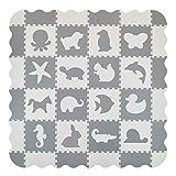 Velovendo 40% dickere Puzzlematte | Sanfte Baby-Bodenmatte (Tiere)
