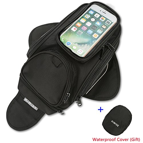 Motorcycle Tank Bag, Water Resistant with Super Strong Magnetic Gas...