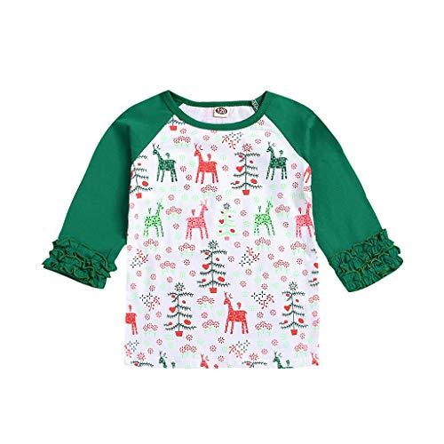 Sunnymi - Camisa para niños de 1 a 5 años, diseño de Dibujos Animados Verde 3-4 Años