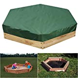 Sandpit Cover,Octagon Sandbox Cover with Drawstring Table Cover Waterproof Pool Cover for Garden