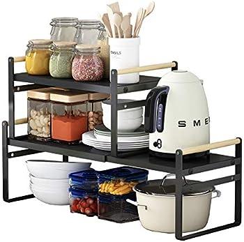 Apsan Expandable Kitchen Counter Organizer Shelf