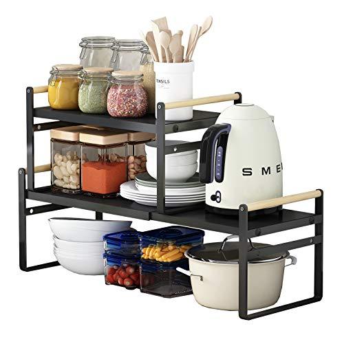 Apsan Expandable Kitchen Counter Organizer Shelf Now $10.99