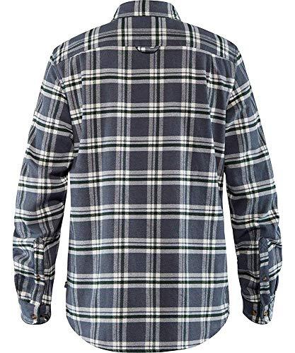 FJALLRAVEN Övik Heavy Flannel Shirt M Chemise Homme, Vert (Deep Forest), M
