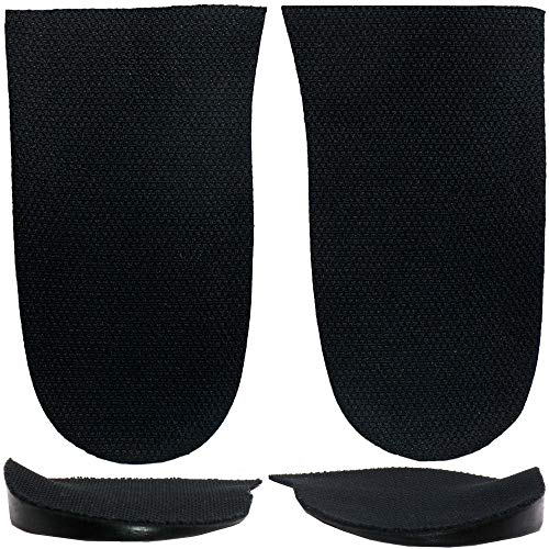 Overpronation, Supination Heel Wedges for Knock-Knees, Bow Legs Sold Individually - Cleat Wedges (1 Pair(Fabric Topped))