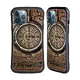 Head Case Designs Licenciado Oficialmente Simone Gatterwe Reloj Grunge Steampunk Carcasa híbrida Compatible con Apple iPhone 12 Pro MAX