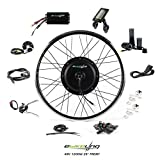 "EBIKELING 48V 1200W 26"" Direct Drive Waterproof Electric Bicycle Front Wheel Ebike Conversion Kit (Front/LCD/Twist)"