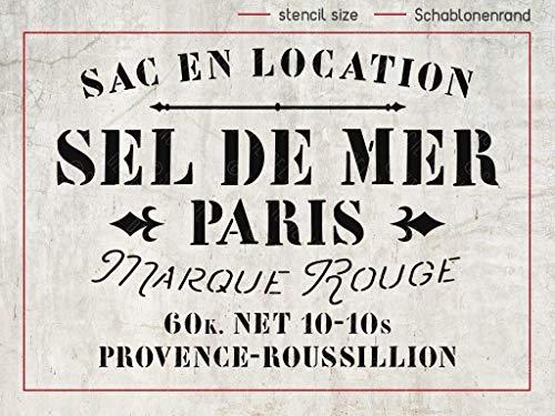 Schablone Sel de Mer Paris - französischer shabby chic