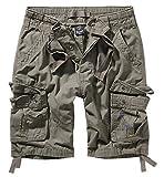 Pantalones cortos Brandit Pure Vintage, muchos colores, tamaño S hasta 7XL verde oliva XXXXL