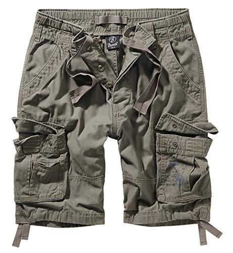 Brandit, Pure Vintage Shorts, pantaloncini vintage, in diversi colori, taglie dalla S alla 7XL oliva XXXXL