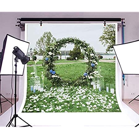 Yeele 10x8ft Wedding Backdrop Beatiful Flower Blooming on Green Plant Wall Background Wedding Ceremony Bridal Shower Ceremony Engagement Anniversary Floral Marriage Photo Shoot Wallpaper