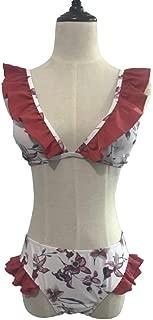 Nalkusxi Bikini de Dos Piezas con Estampado de Flores y triángulo de Talle Alto para Mujer (Color : 1, Size : L)
