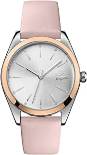 Lacoste Womens Quartz Watch, Analog Display and Leather Strap 2001098