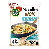 PRETES EN 3 MIN: Les nouilles Udon Suzi Wan, nouilles épaisses d'origine japonaise, sont idéales pour vos recettes de soupes et nouilles sautées. Prêtes en seulement 3 minutes, elles sont parfaites pour improviser un repas délicieux et rapide! CONVIE...
