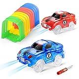 codomoxo Accesorios Magic Track con túnel de Cars con 2 coches de carreras (coche – túnel)