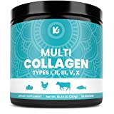 Keppi Multi Collagen Protein Powder - 5 Types of Pure Food Sourced Collagen Peptides - Marine, Free Range Chicken and Bovine Bone Broth Peptides