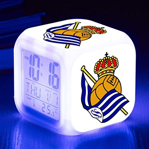 TYWFIOAV Football Club Watch Flash Digital Clock 7 Colores LED Alarm Clock...
