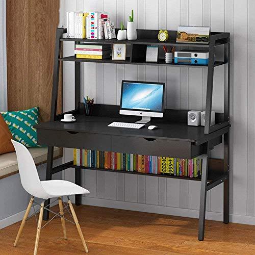 HAOHAO Computadora de Escritorio con cajones, Mesa Grande de Estudio portátil, una Oficina Creativa versátil diseño con Patas de Metal Biblioteca 100x50x73cm Ordenador (39x20x29inch),VS,120x48x1.