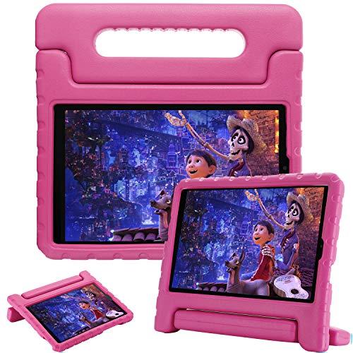 GOZOPO Niños Funda para Lenovo Tab M8 HD /Smart Tab M8 /Tab M8 FHD 2019, Soporte de mango a prueba de golpes, Funda amigable para los niños - Rosa