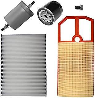 Inspektionspaket SET B 1x Luftfilter 1x Innenraumfilter (Pollenfilter) mit Aktivkohle 1x Ölfilter 1x Kraftstofffilter 1x Ölablass Schraube 1x Dichtring für Ölablass Schraube