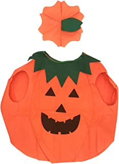 Halloween Pumpkin Costume for Kids Boys Girls Party Fancy Dress Up Clothing Orange