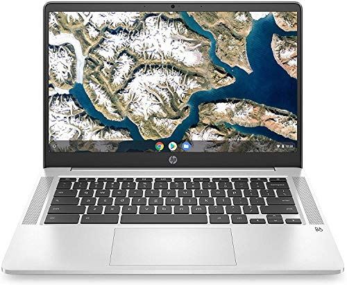 HP 14 Chromebook Laptop Computer 14' HD SVA Anti-Glare Display Intel Celeron Dual-Core N5000 Processor 4GB DDR4 64GB eMMC Backlit WiFi Webcam Chrome OS Google Classroom Compatible w/ 32GB SD Card