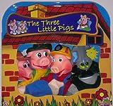 Lot de 4 marionnettes Les Trois Petits Cochons