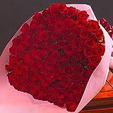 バラギフト専門店のマミーローズ 選べるバラ本数セレクト 還暦祝い 誕生日 プロポーズ 贈り物の豪華なバラの花束(生花) 赤 110本