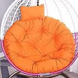Cuscini per sedia a dondolo Nido d'uccello,uovo addensato Cuscini per sedie amaca Cuscini morbidi per sedie con cuscino Cuscino per interni Patio esterno Cortile Giardino Ufficio-115CM(45 pollici)-C