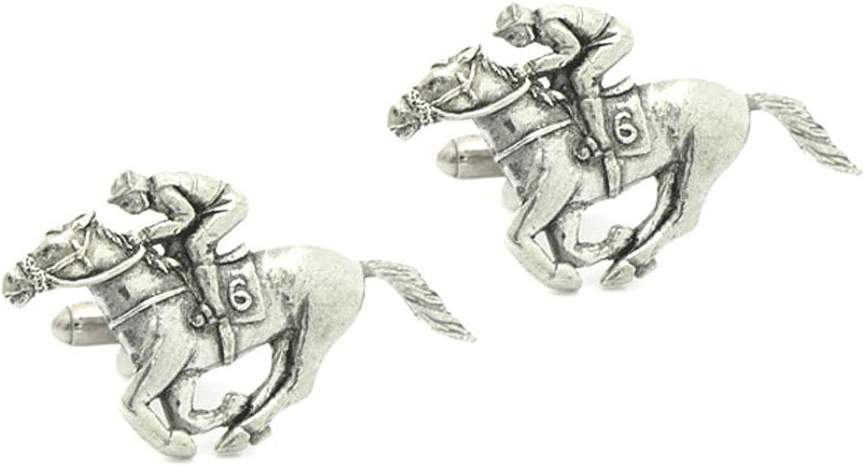 Harry Smith Pewter Racehorse Cufflinks
