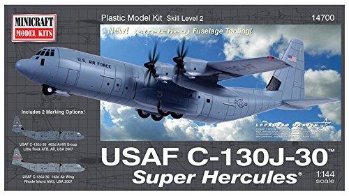 Minicraft Models Dempsey Designs Morceau modèles Echelle 1 : 144 cm C-130 J-30 Super Kit de modèle Hercules USAF
